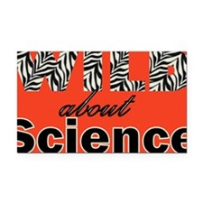WildAboutScienceRedB Rectangle Car Magnet