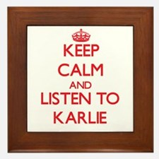 Keep Calm and listen to Karlie Framed Tile