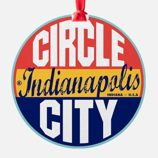 Indianapolis Vintage Label W Ornament