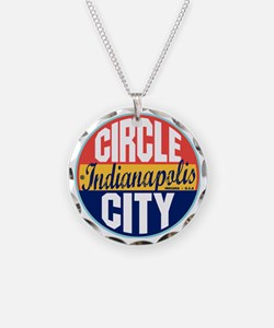Indianapolis Vintage Label W Necklace