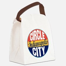 Indianapolis Vintage Label W Canvas Lunch Bag
