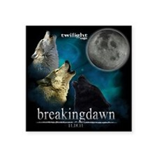 "Twilight Breakingdawn Moon  Square Sticker 3"" x 3"""