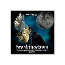 "Twilight Breakingdawn Moon  Square Sticker 3"" x 3"""