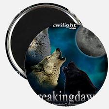 Twilight Breakingdawn Moon Wolfs Howling Pu Magnet