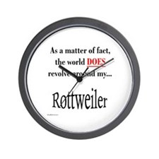 Rottweiler World Wall Clock