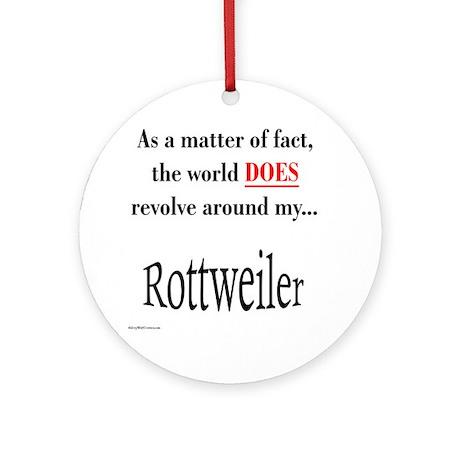 Rottweiler World Ornament (Round)