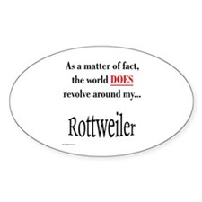 Rottweiler World Oval Decal
