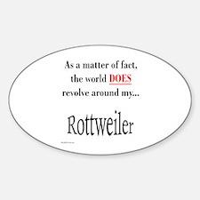 Rottweiler World Oval Decal