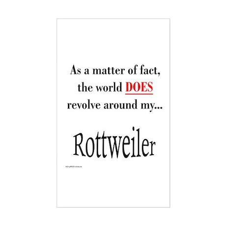 Rottweiler World Rectangle Sticker