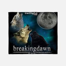 Twilight Breakingdawn Moon Wolfs How Throw Blanket