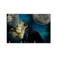 Twilight Breakingdawn Moon Wolfs  Rectangle Magnet