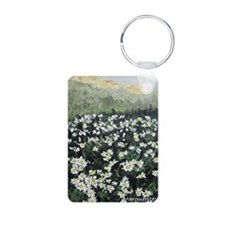 sigg_marguerites Aluminum Photo Keychain