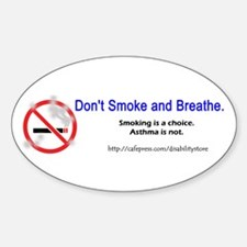 No Breathing Oval Decal