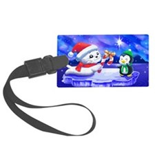 holiday_seal_and_penguin_colver Luggage Tag