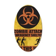 Zombie SHERLTER FINAL FLAT 35x21 Oval Wall Decal