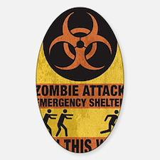 Zombie SHERLTER FINAL FLAT Sticker (Oval)