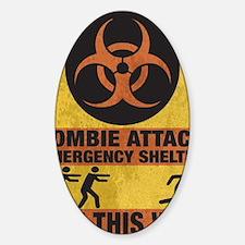 Zombie SHERLTER FINALbig3FLAT Sticker (Oval)