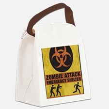 Zombie SHERLTER FINALbig3FLAT Canvas Lunch Bag