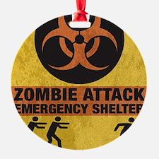 Zombie SHERLTER FINALbig3FLAT Ornament