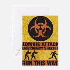Zombie SHERLTER FINALbig3FLAT Greeting Card