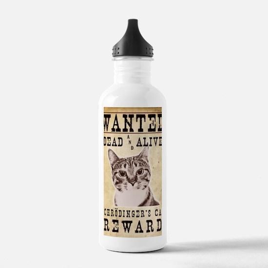SchrodingerPoster Sports Water Bottle