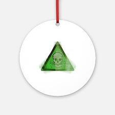 Grunge Poison symbol Round Ornament