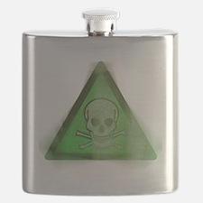 Grunge Poison symbol Flask