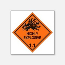 "Explosive-1.1 Square Sticker 3"" x 3"""