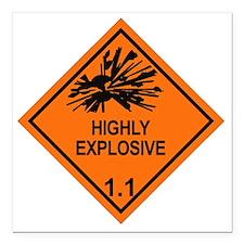 "Explosive-1.1 Square Car Magnet 3"" x 3"""