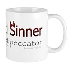 Saint and Sinner Bumpersticker Small Small Mug