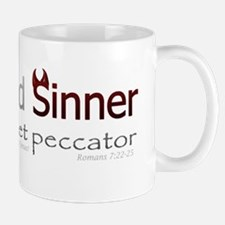 Saint and Sinner Bumpersticker Small Small Mug