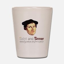 Saint and Sinner Shot Glass