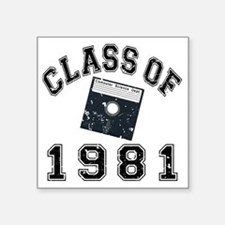 "CO1981CS Black Distressed Square Sticker 3"" x 3"""