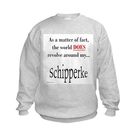 Schipperke World Kids Sweatshirt
