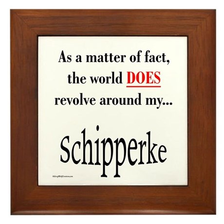 Schipperke World Framed Tile