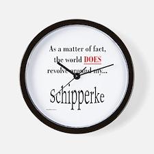 Schipperke World Wall Clock