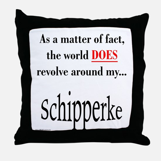 Schipperke World Throw Pillow