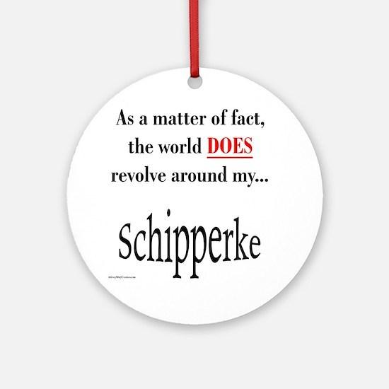 Schipperke World Ornament (Round)