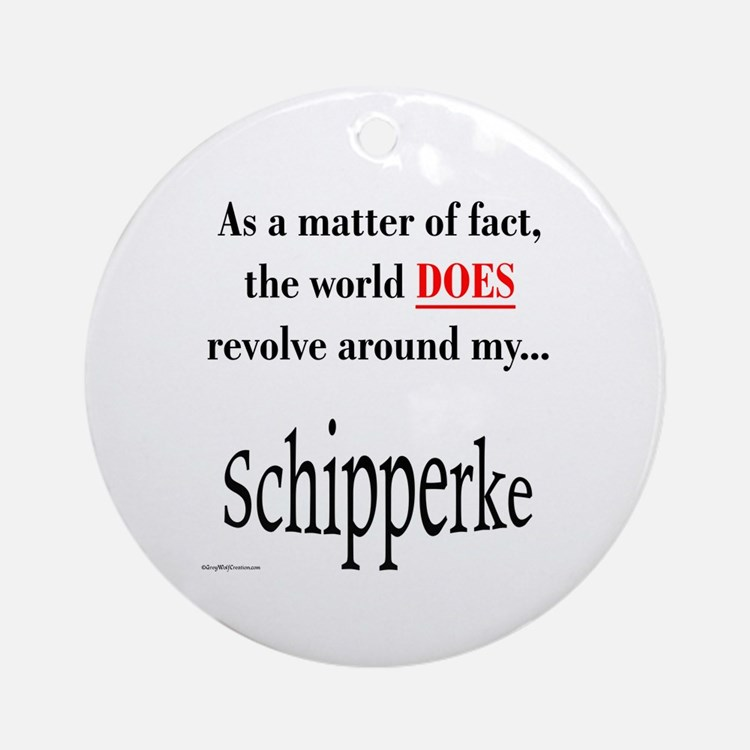 Schipperke World Ornament (Round)