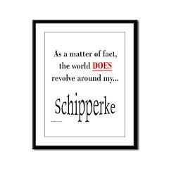 Schipperke World Framed Panel Print