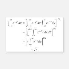 Gaussian Integral Rectangle Car Magnet