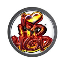 i love hip hop Wall Clock