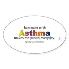 Asthma Pride Oval Decal