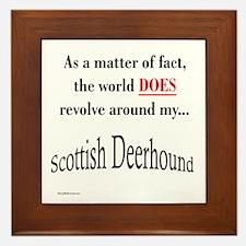 Deerhound World Framed Tile