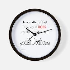 Deerhound World Wall Clock