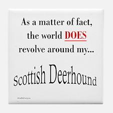 Deerhound World Tile Coaster