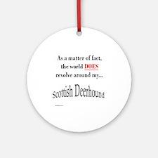 Deerhound World Ornament (Round)
