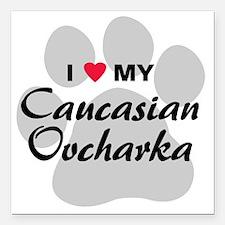 "caucasian-ovcharka Square Car Magnet 3"" x 3"""