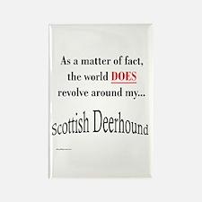 Deerhound World Rectangle Magnet