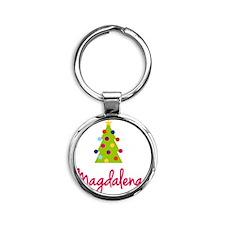 Christmas-tree-Magdalena Round Keychain